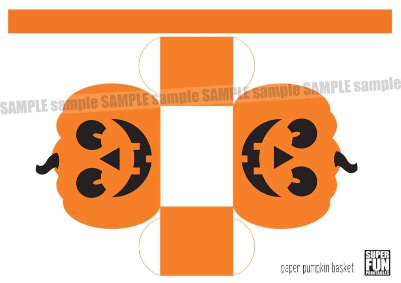 Paper Pumpkin Basket Super Fun Printables