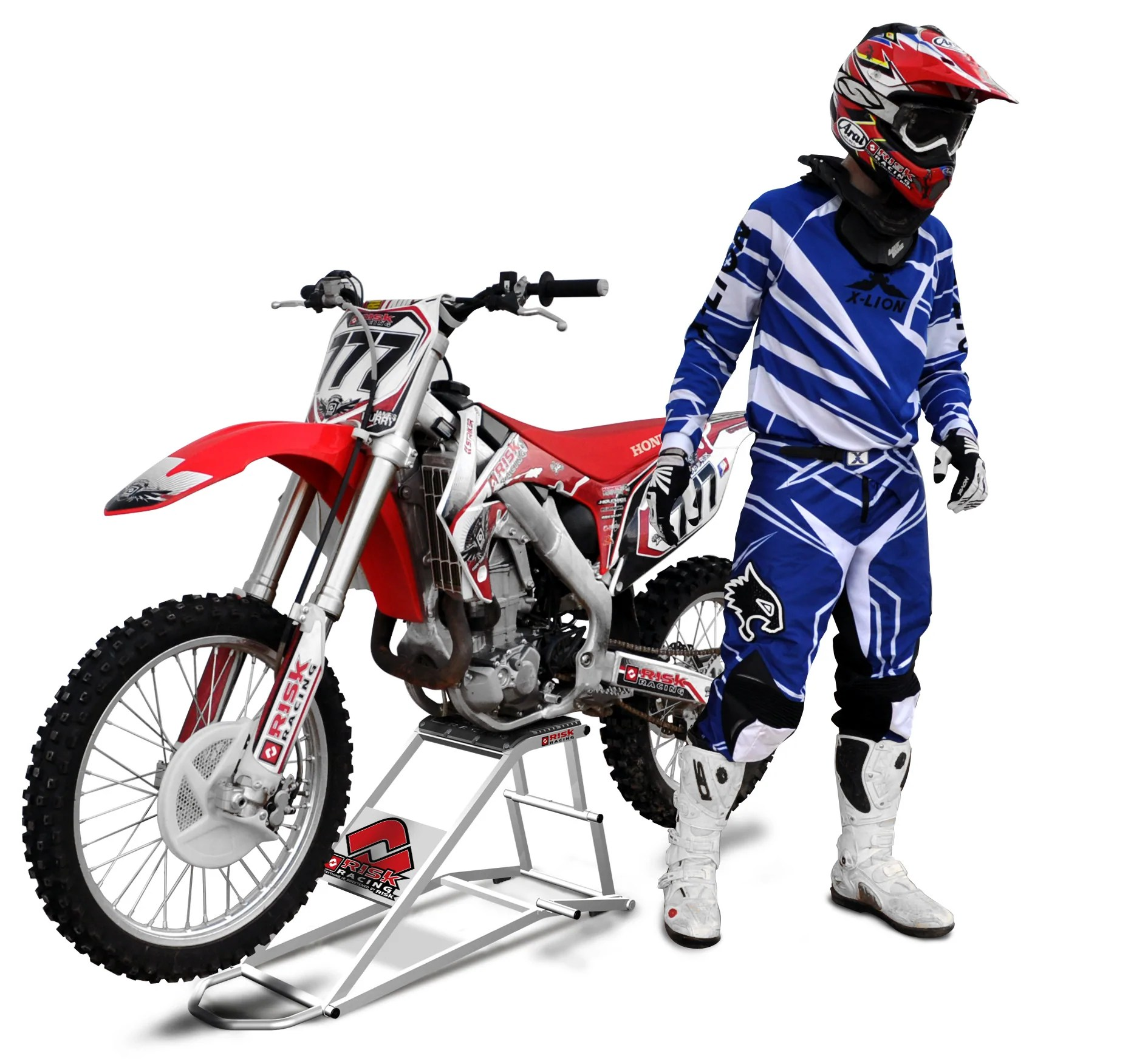 Motocross Garage Accessories Rr1 Ride On Lift Ride Off The Track Onto Your Stand Risk Racing