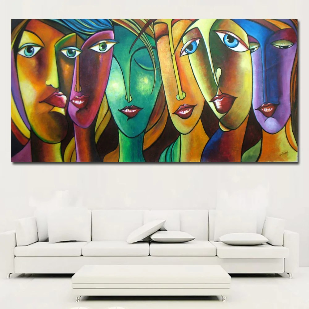 Abstract Art Prints On Canvas Abstract Art Colorful Girl Canvas Paintings Wall Art Prints On Canvas Printing Posters Wall Picture For Living Room Home Decor