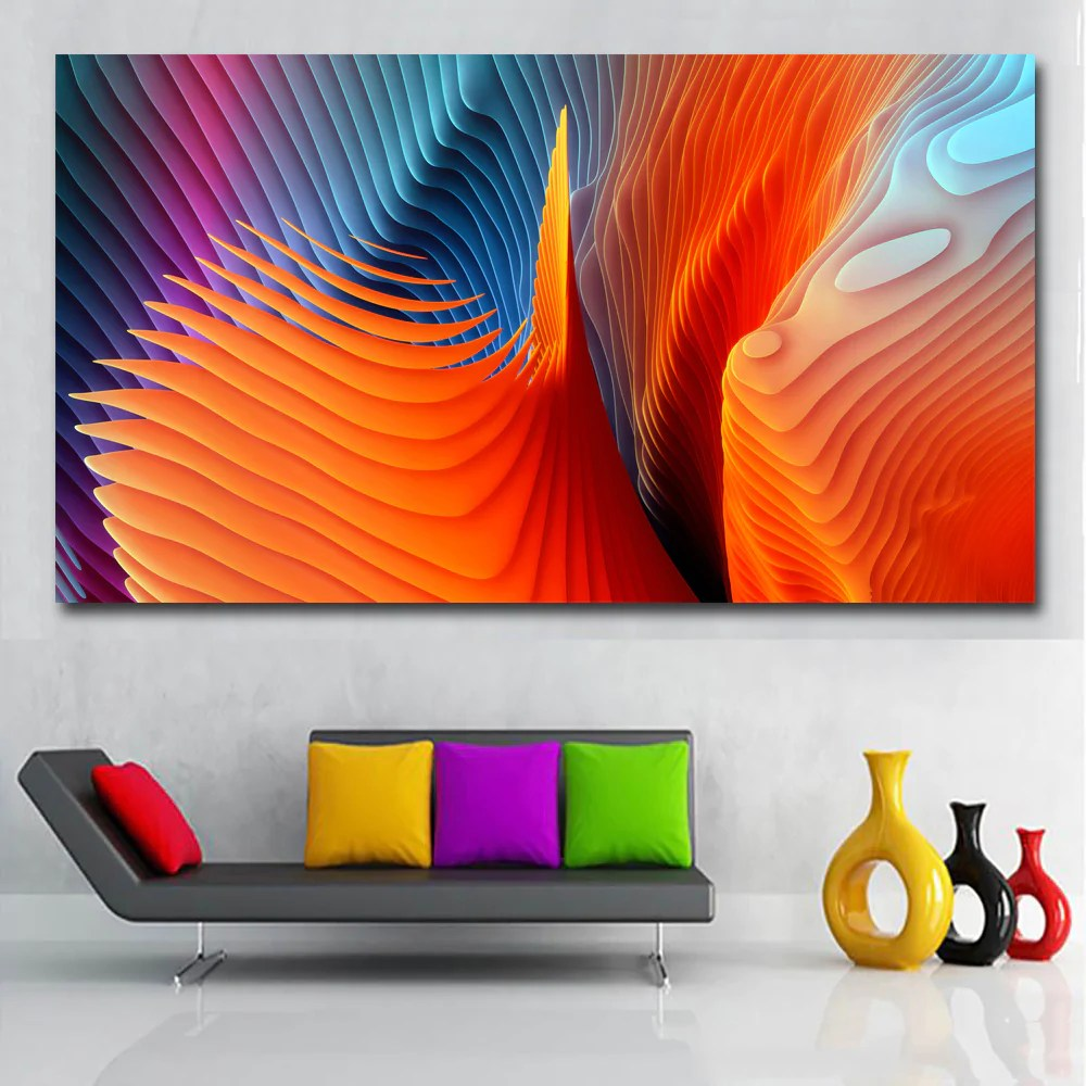 Abstract Art Prints On Canvas Hd Prints Abstract Art Color Burst Art Painting Canvas Printed Wall Art Prints Poster For Living Room Home Decor Unframed