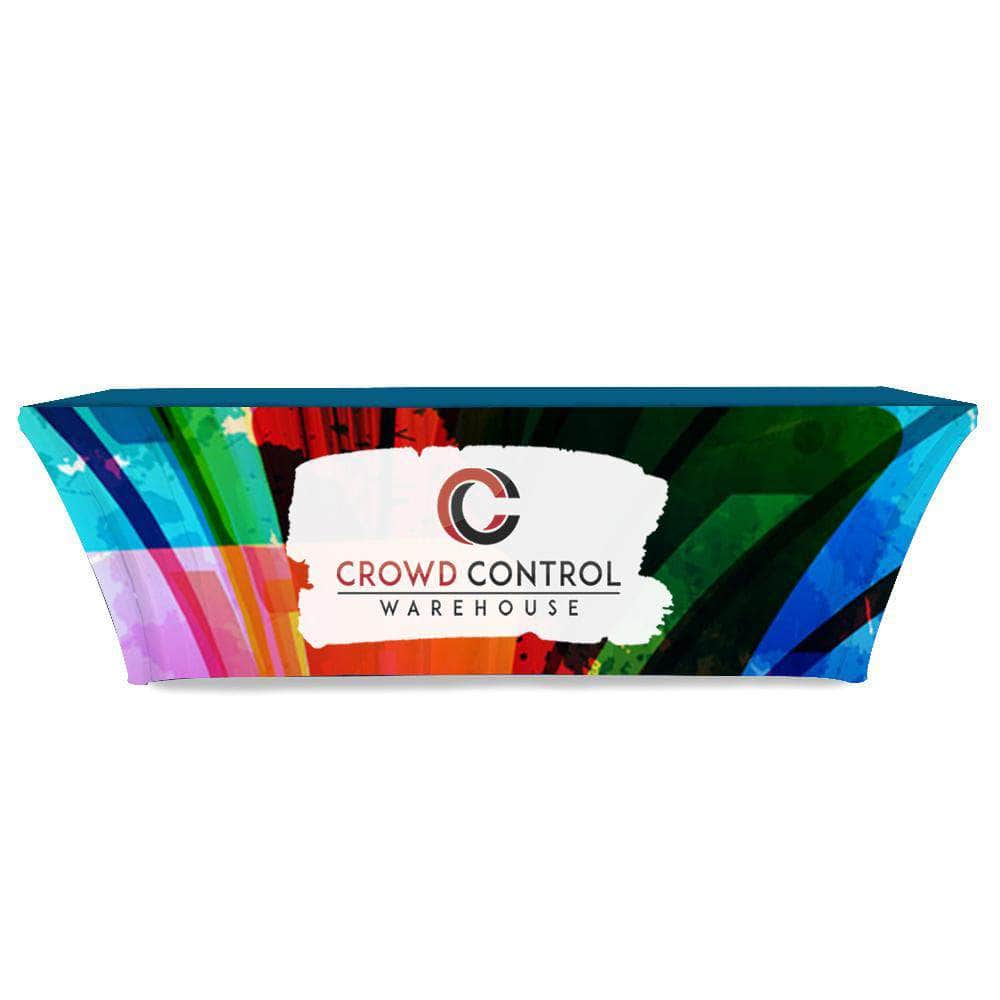 Warehouse Table Stretch Table Throw Full Color Print 8 Ft