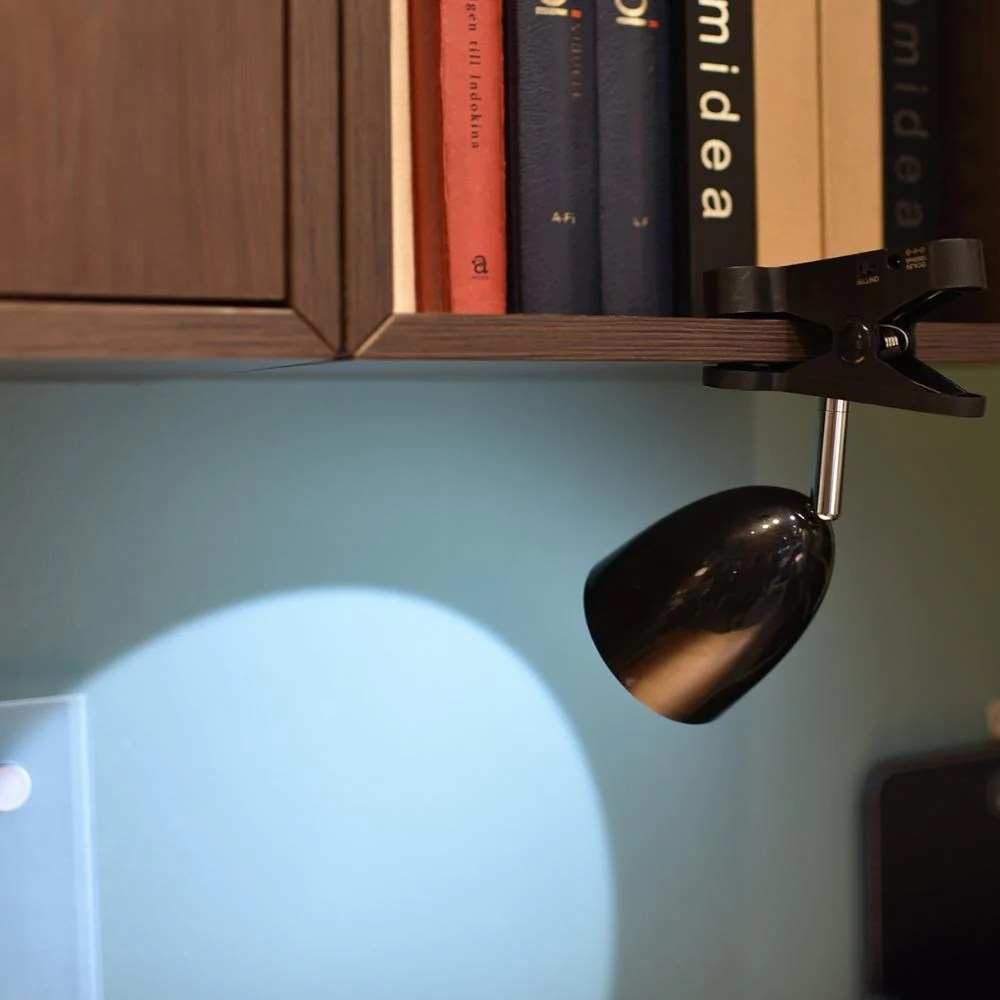 Clip On Bed Lamp Bright Clamp Desk Lamp Led Battery Powered Clip On Bookshelf Dorm Bed Office Table Lamp For Reading Indoor Emergency Lighting