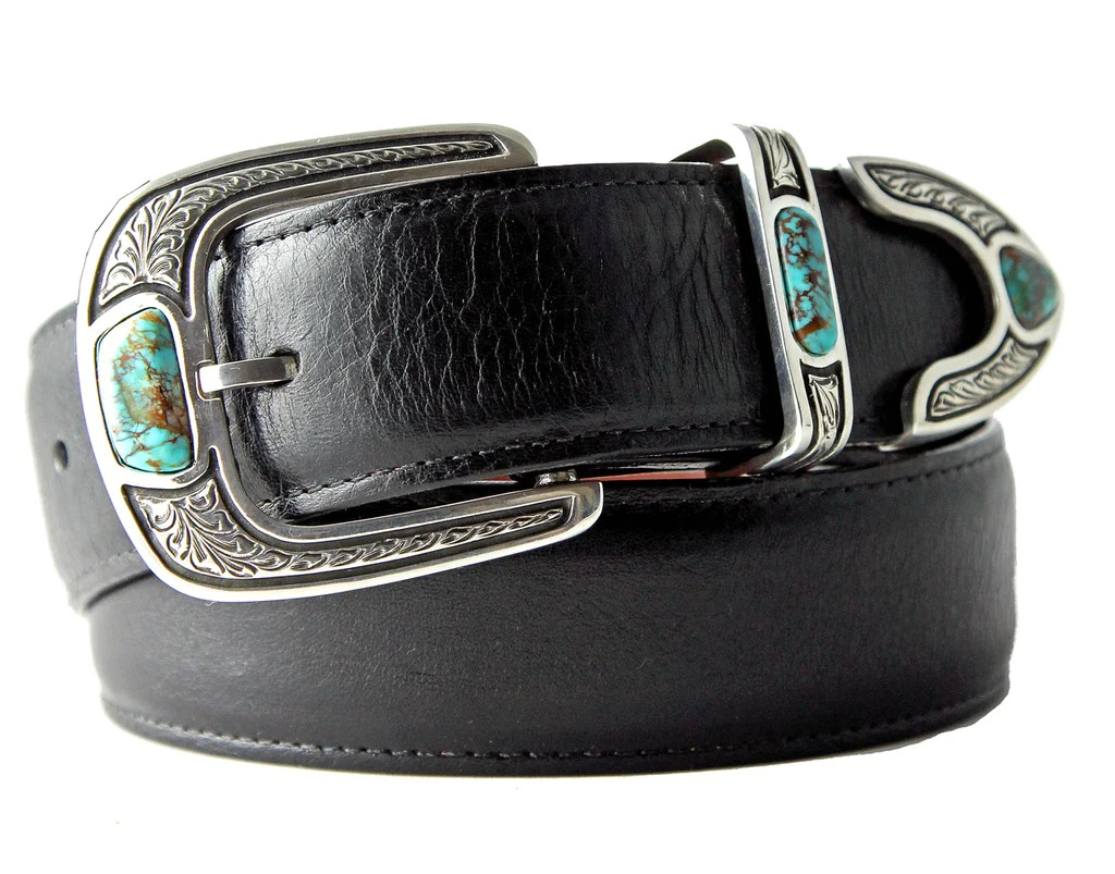 Buckle Tip Sets Tom Taylor Belts Buckles Bags Engraved Penasco Buckle Set Turquoise Belt Buckles Tom