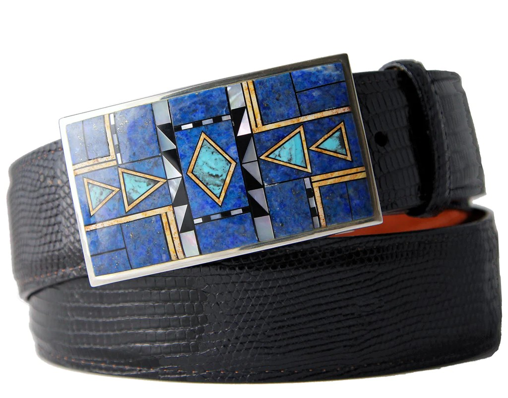 Buckle Tip Sets Tom Taylor Belts Buckles Bags Guild Midnight Inlay Belt Buckle Custom Belt Buckle