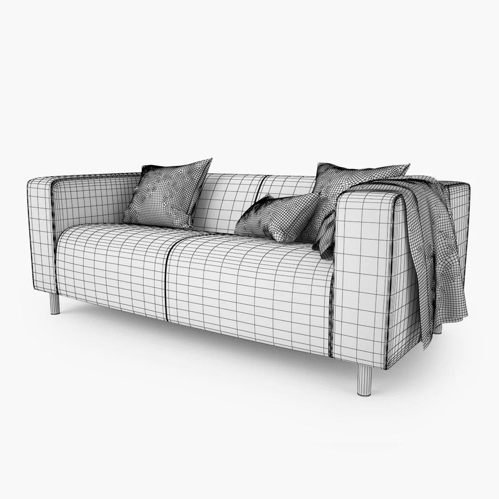 Loveseat Ikea Free Ikea Klippan Loveseat Sofa 3d Model Facequad