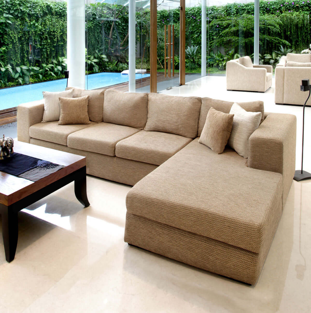 Sofa L Images Tribeca L Shape 3 Seat Sofa