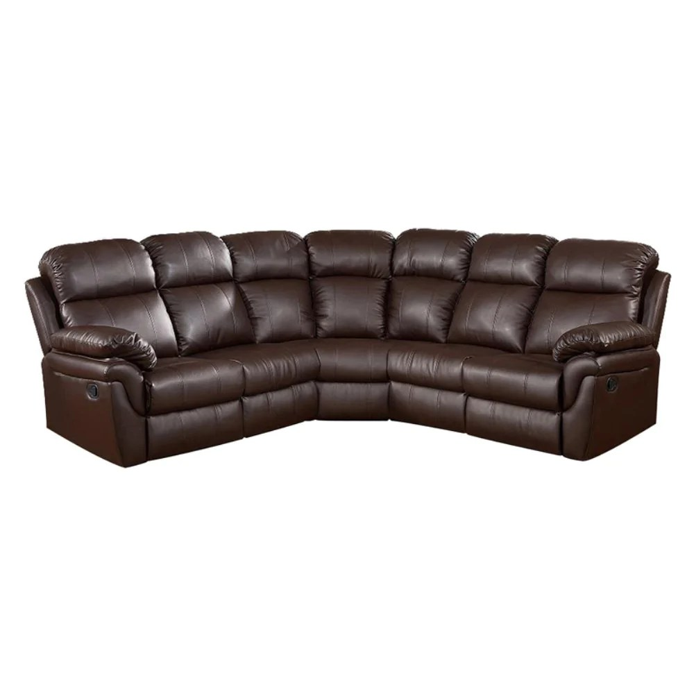 Sofa Frankfurt Frankfurt Sectional Sofa With Two Recliners 8005 Brown