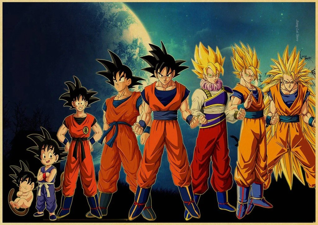 Dragon Ball Z Iphone Wallpaper Poster Dragon Ball Z Goku Goku Shop