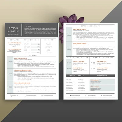 2 page cv template - Towerssconstruction