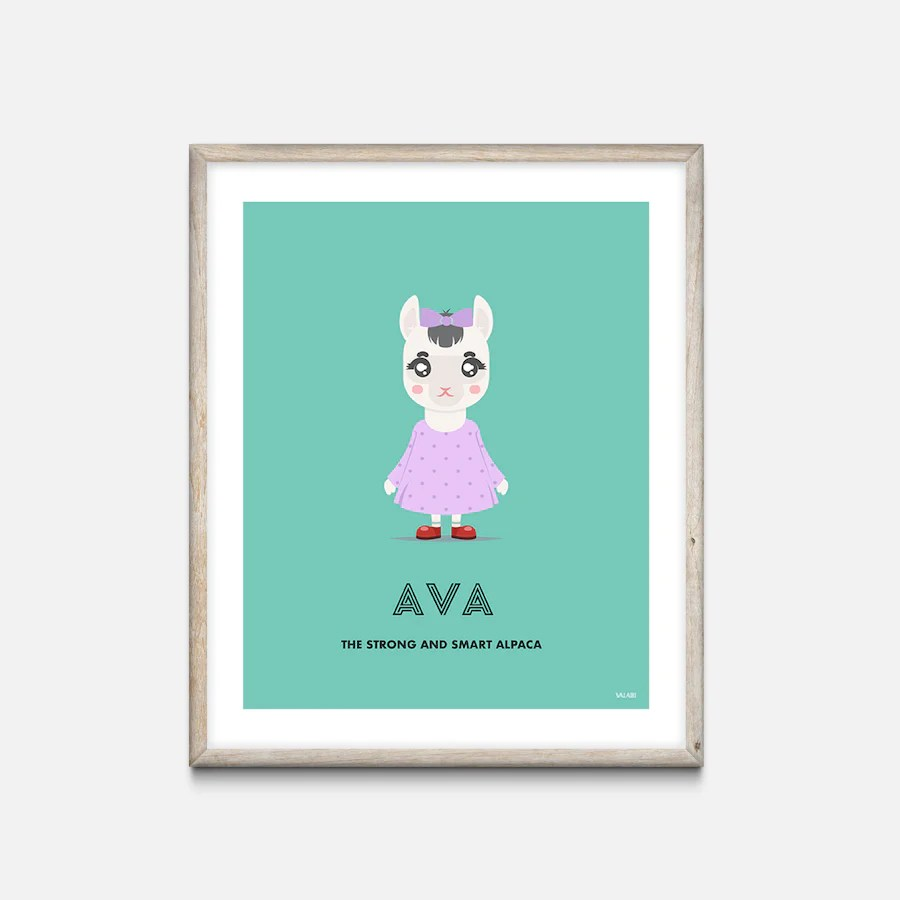 Nursery Prints Girl Personalised Nursery Art