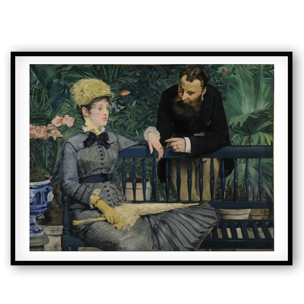 Dans La Serre Manet Dans La Serre In The Winter Garden Art Print Home Decor Impressionist Wall Art Accent