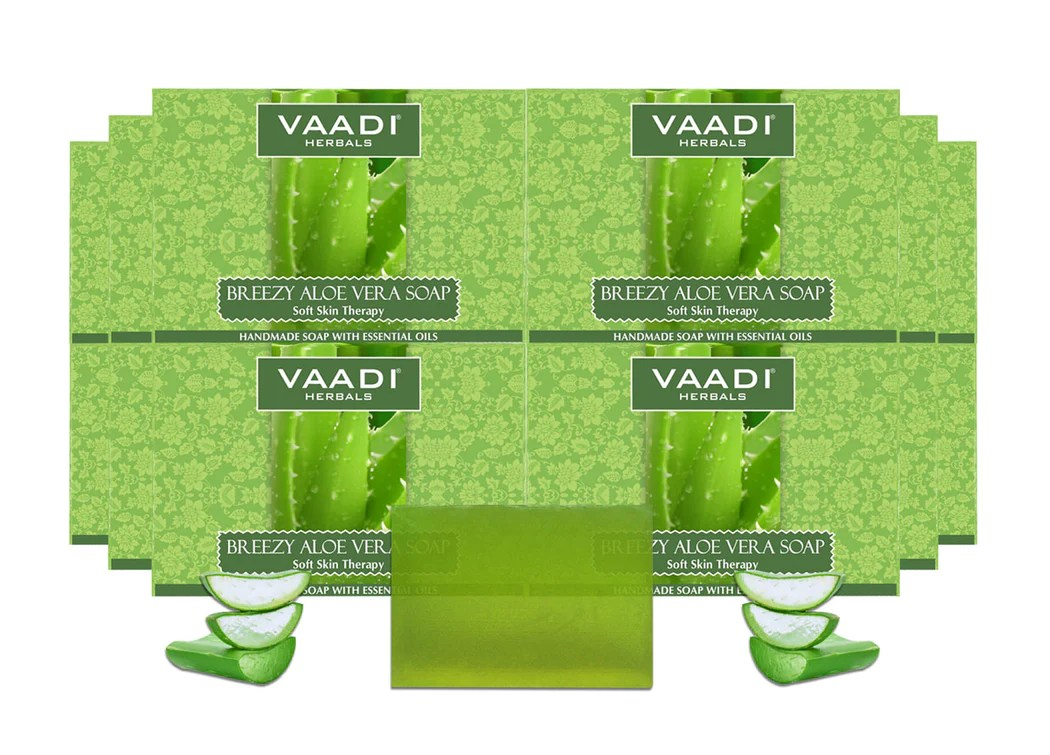 Aloe Vera Essen Pack Of 12 Breezy Aloe Vera Soap 75 Gms X 12