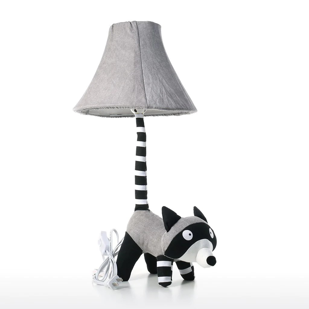 Animal Lamp For Nursery Raccoon Kids Table And Desk Lamp For Nursery Decor