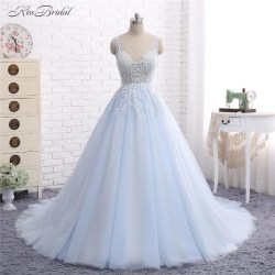 Small Of Light Blue Wedding Dress