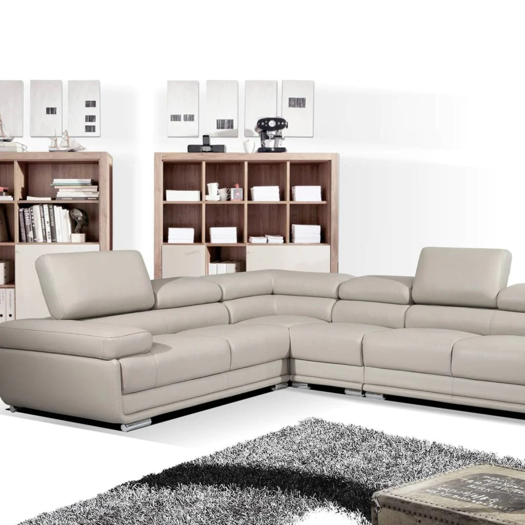 Lounge Suites Sienna L Shaped Corner Leather Lounge Suite