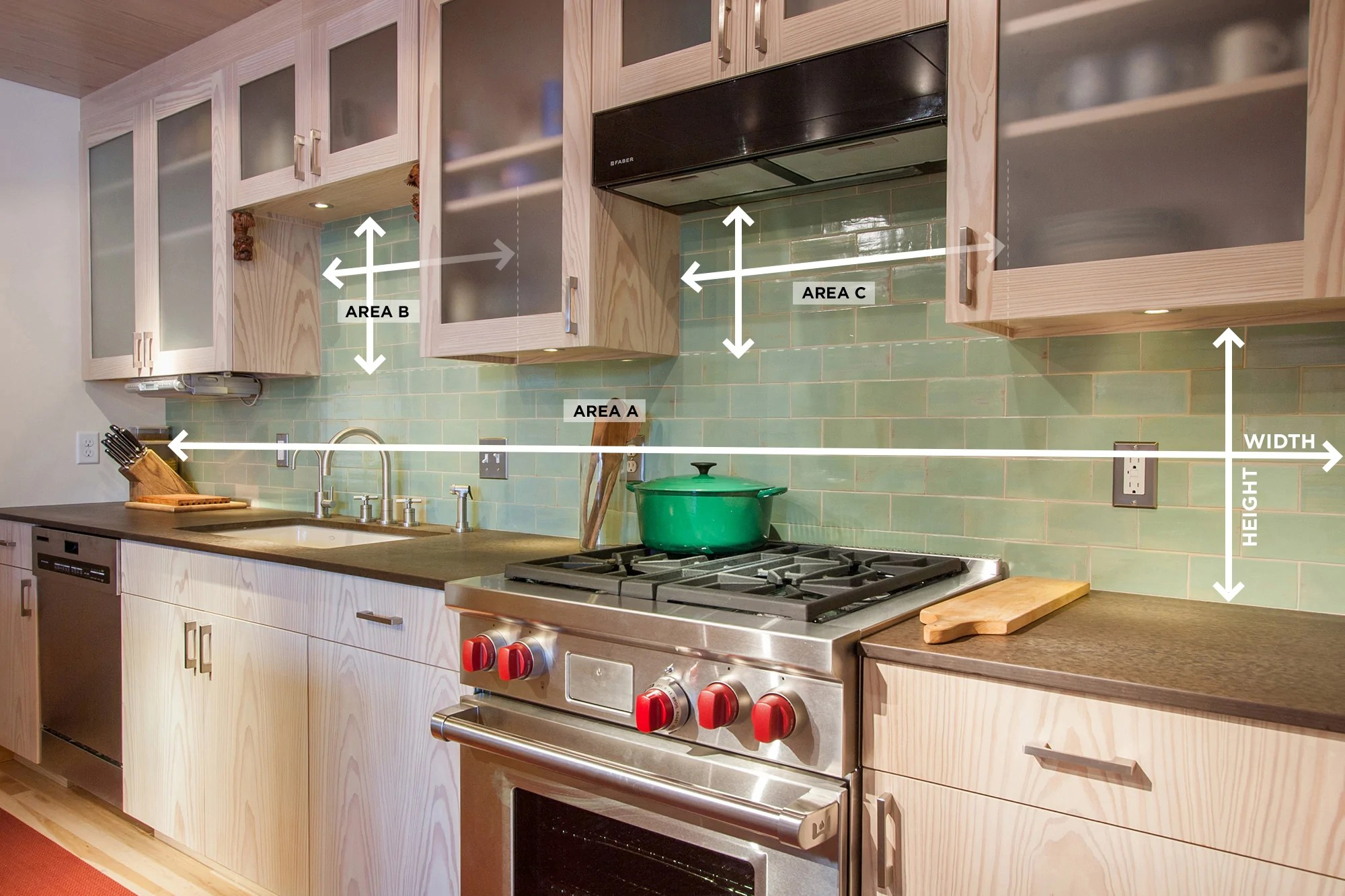 Pictures Of Backsplash In Kitchens How To Measure Your Kitchen Backsplash Mercury Mosaics