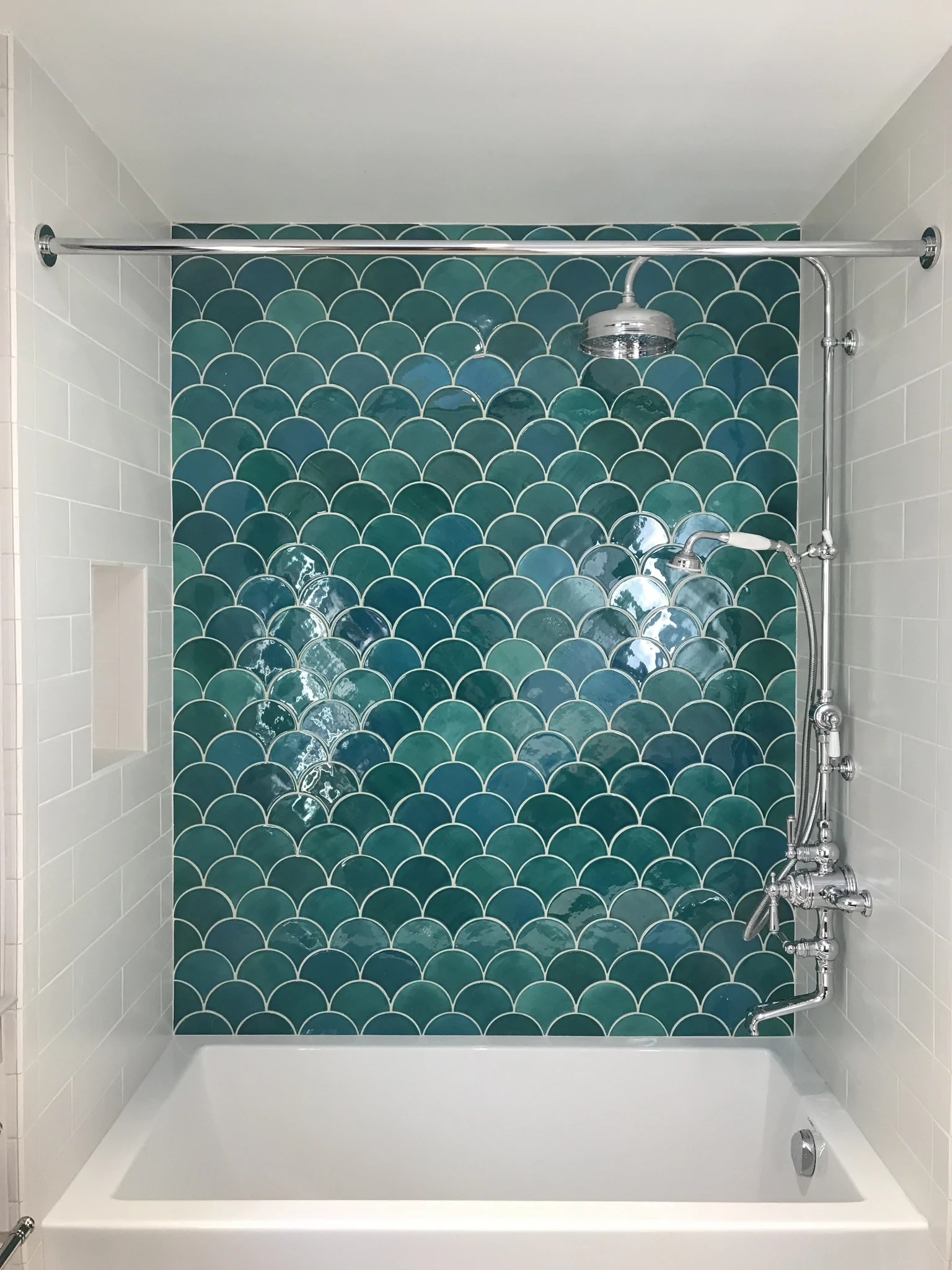 Mermaid Scale Shower Curtain 11 Ways To Use Fish Scale Mosaics Wall Tile Pattern Ideas