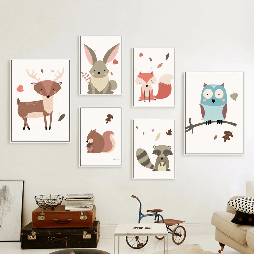 Poster Cerf Poster Toile Cerf Sauvage