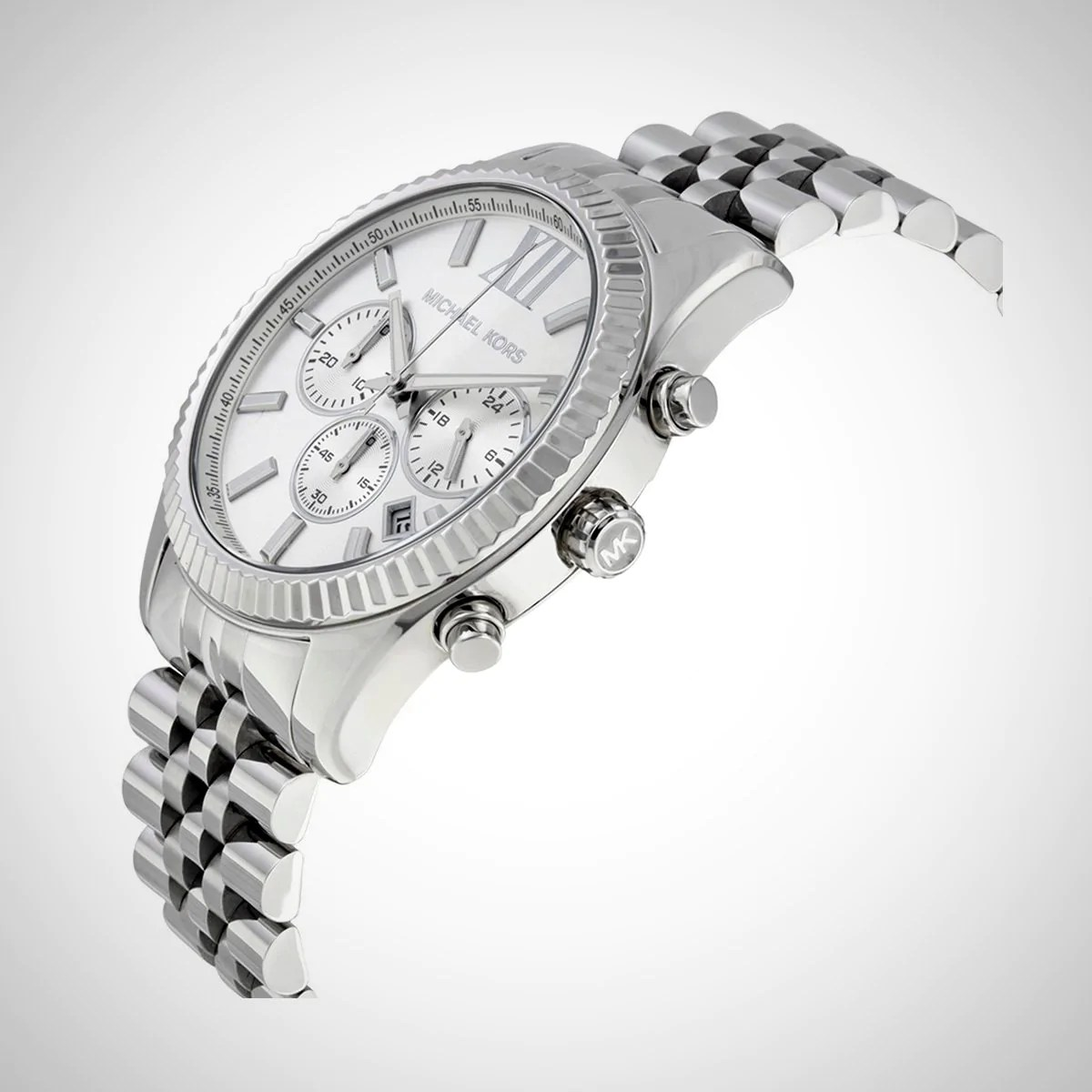 Chronograph Damen Uhr Michael Kors Mk8405 Lexington Herren Chronograph Silber Uhr
