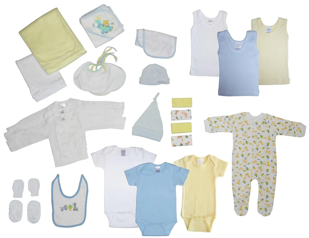 Baby Starterset Newborn Baby Boy 29 Piece Baby Starter Set Box Made In Usa