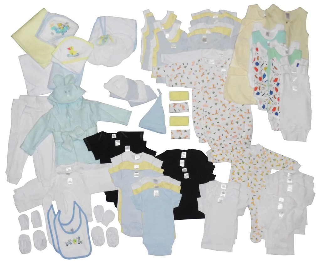 Baby Starterset Newborn Baby Boy 88 Piece Baby Starter Set Box Made In Usa
