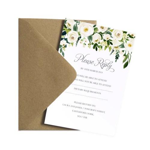 Medium Of Rsvp Cards Wedding