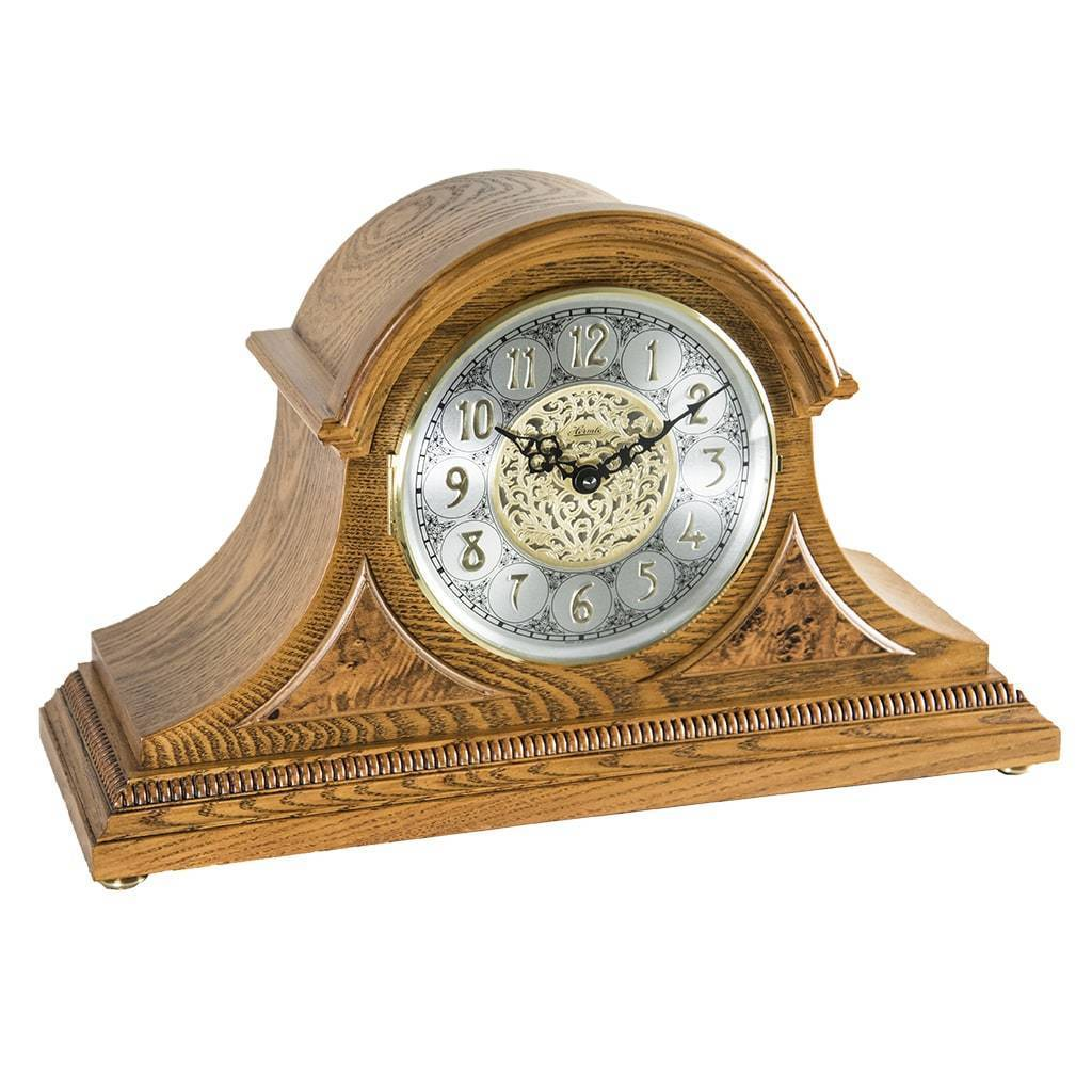 Buy Clock Hermle Amelia Quartz Mantel Clock 21130i9q Light Oak
