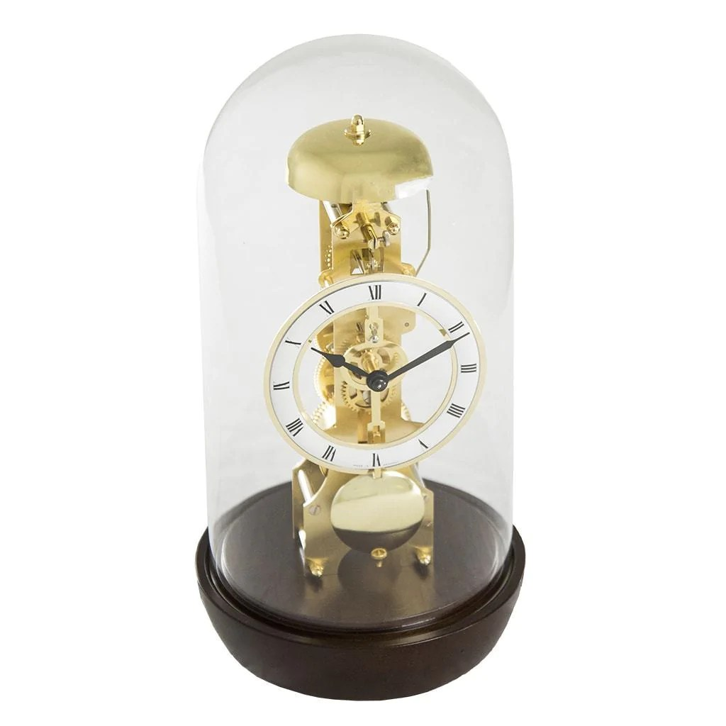 Buy Clock Hermle Bronx Mantel Clock With Glass Dome 23018030791 Walnut