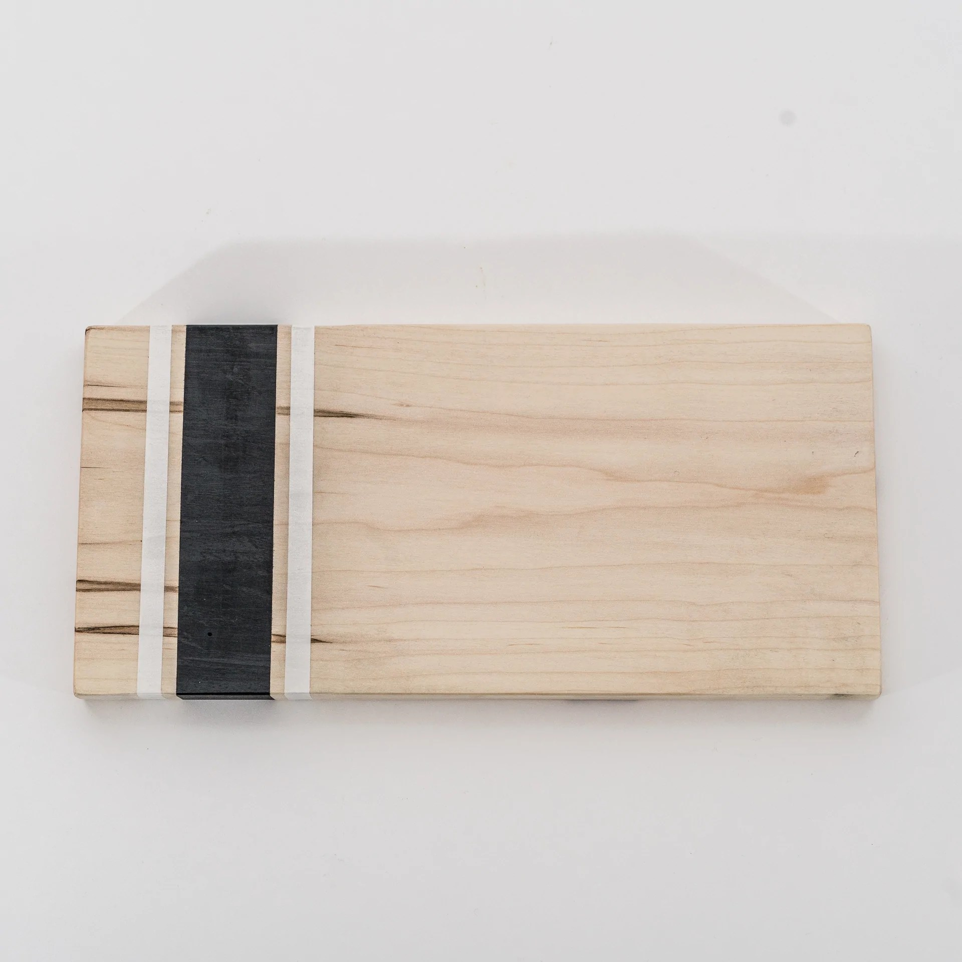 Small Marble Cutting Board Black White Contemporary Small Rectangular Solid Wood Cutting