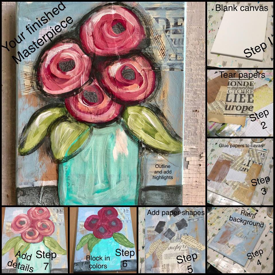 Easy Mixed Media Craft Project Idea Using Diy Paint Paint Pixie Brushes Possibilities Home Market