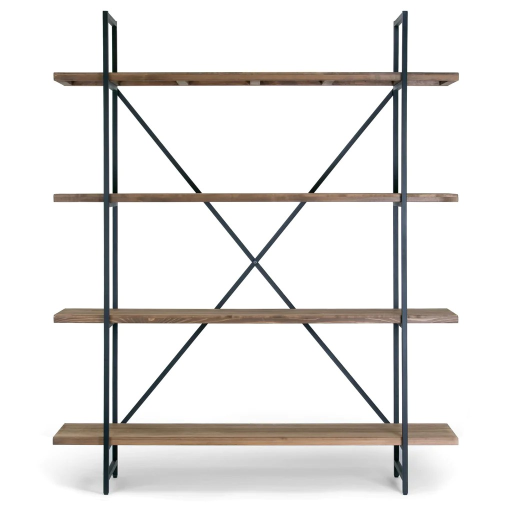 Etagere Metal Wood And Metal 75 Inch 4 Shelf Etagere Bookcase