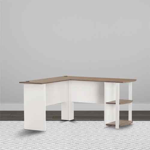 Medium Of White L Shaped Desk