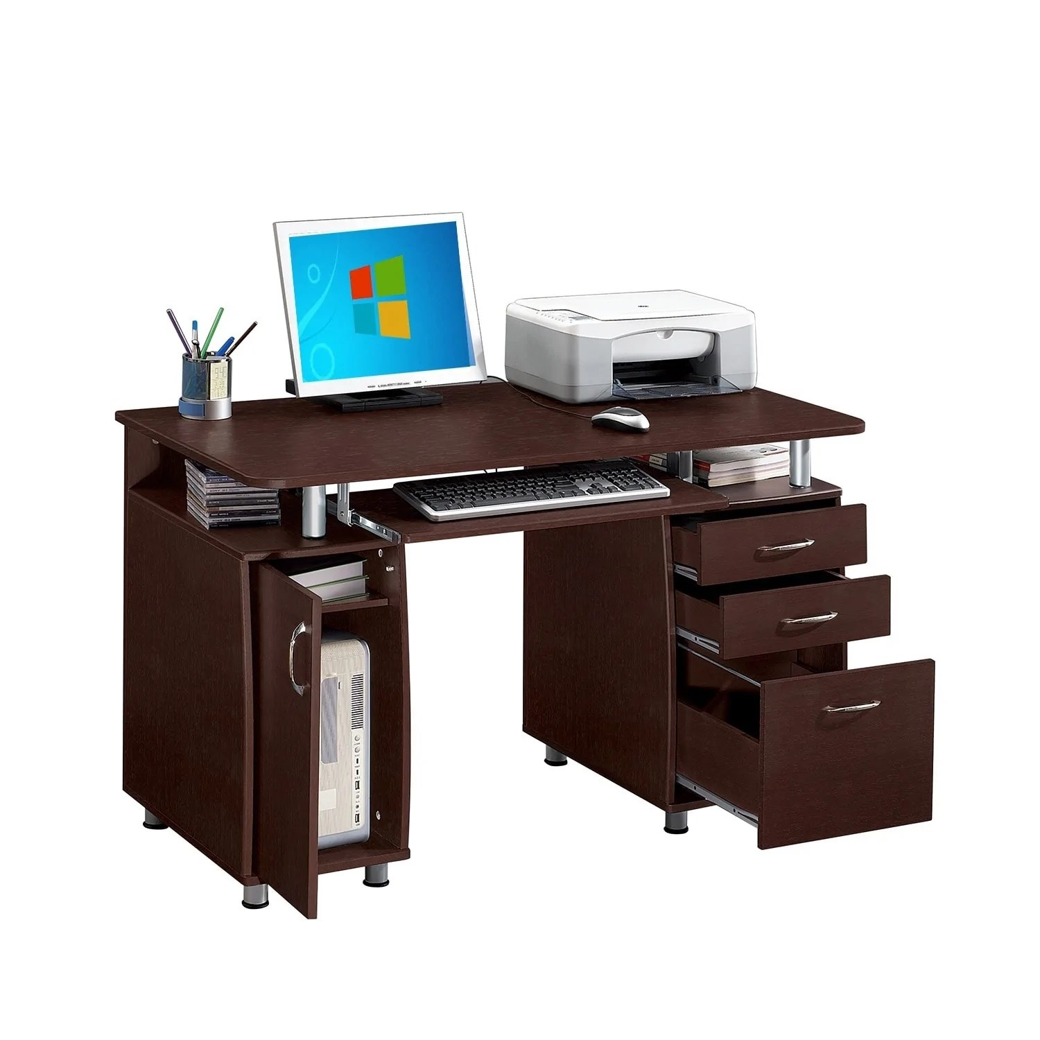 Desk With File Cabinet Multifunctional Office Desk With File Cabinet