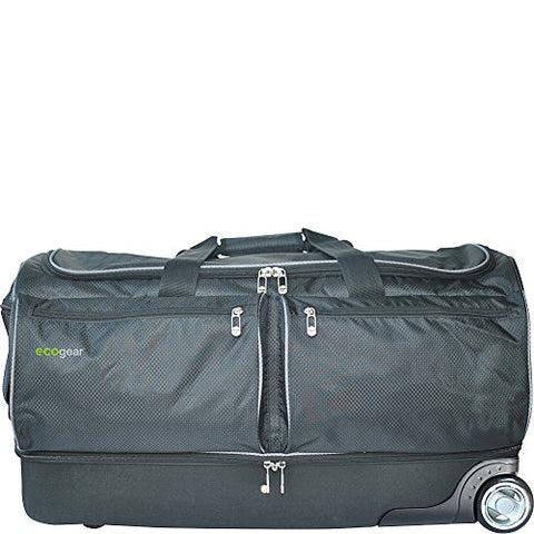 Ecogear 28quot Wheeled Duffel With Garment Rack Black