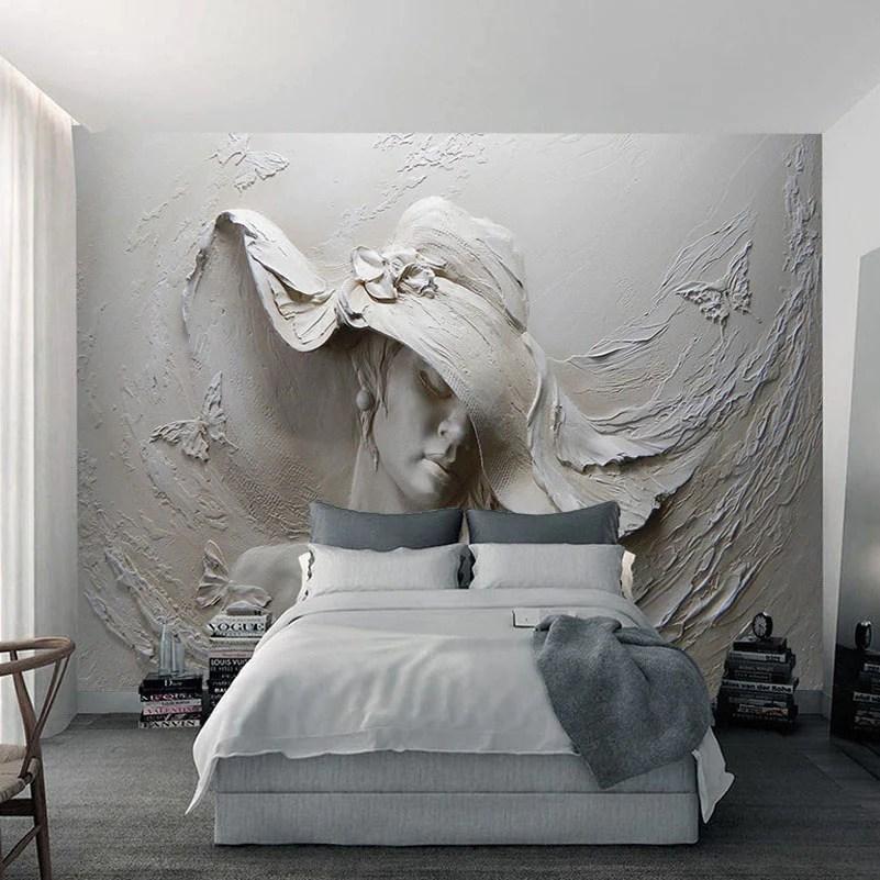 3d Stereoscopic Mural Wallpaper Custom 3d Mural Wallpaper Gray Beauty Modern Abstract Art
