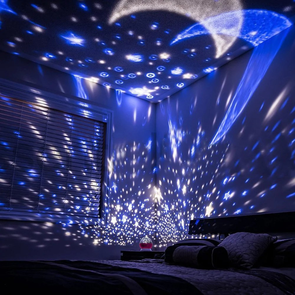 Light Projector Rotating Starry Sky Night Light Projector