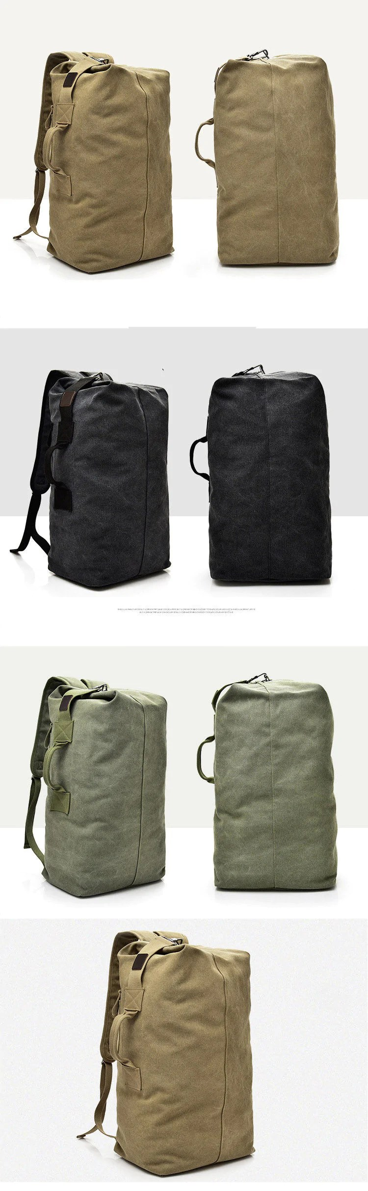 Travel Rucksack Multifunctional Military Tactical Canvas Kit Bag Army Duffle Bag Travel Rucksack