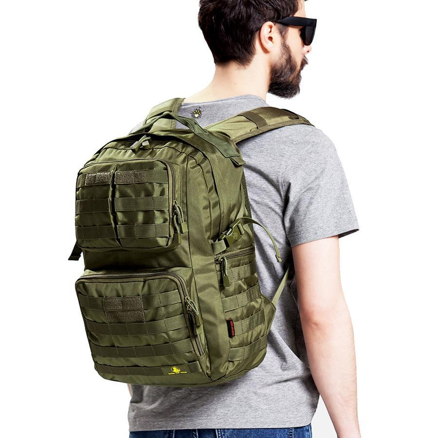 Travel Rucksack 40l Tactical Molle Backpack For Hiking Hunting Fishing Camping Travel Rucksack Waterproof Nylon Tactical Military Army Day Pack 3 Colors