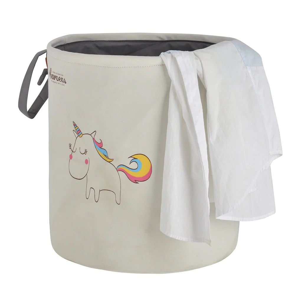 Cute Laundry Hamper Cute Laundry Hamper Dust Proof Laundry Bags With Handles Unicorn Pattern Natural White