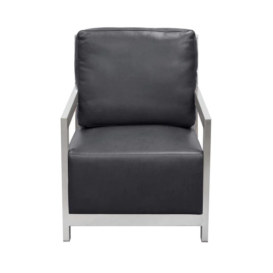 Black And White Accent Chair Diamond Sofa Zen Accent Chair W Stainless Steel Frame Black