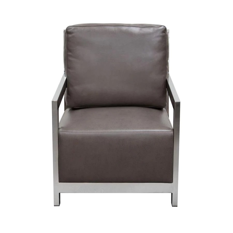 Black And White Accent Chair Diamond Sofa Zen Accent Chair W Stainless Steel Frame Elephant Grey
