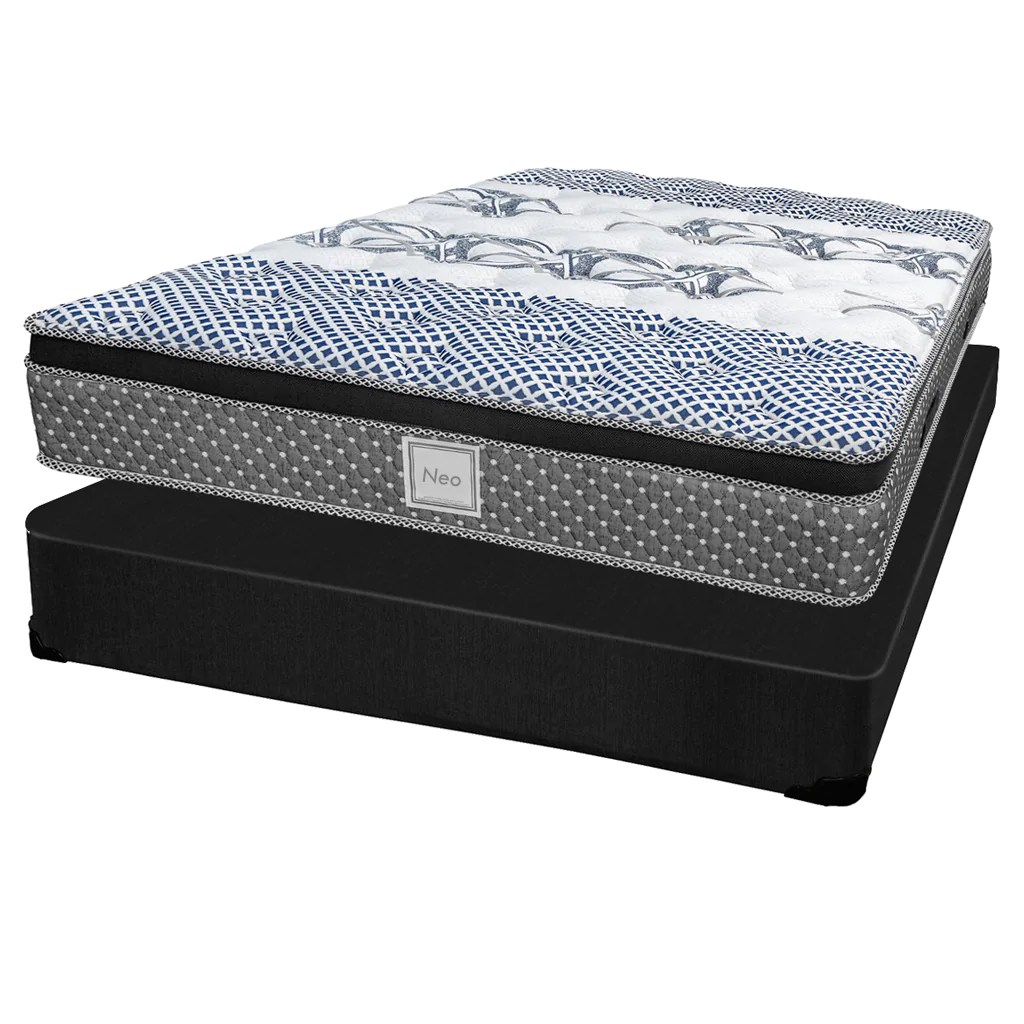 Ensemble Matelas Sommier Set Mattress And Box Collection Neo Double