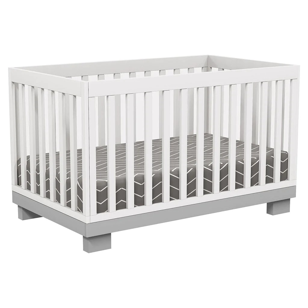 Convertible Gris 4 In 1 Convertible Crib Joanna Grey White