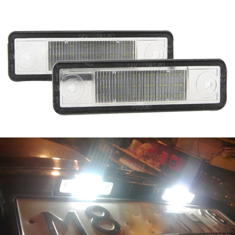 Led Verlichting Astra G 2x Auto Led Kentekenplaat Verlichting 12 V Wit Kentekenverlichting Voor Vauxhall Voor Opel Corsa B Astra F G Omega Zafira Signum Vectra B