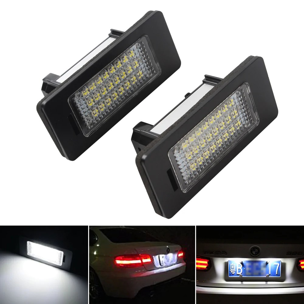 Led Verlichting Bmw X1 1 Paar Led Auto Kentekenverlichting Voor Bmw X1 X5 X6 E39 E60 E61 E70 E71 E81 E82 E84 E90 E91 E92 E93 Led Auto Nummerplaat Lampen