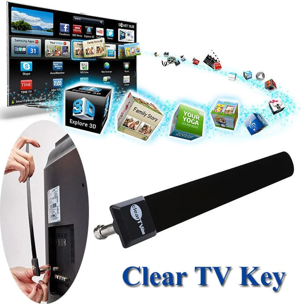 Tv Digitale Hiperdeal Clear Tv Sleutel Hdtv Gratis Tv Digitale Indoor Antenne 1080 P Sloot Kabel Gezien Op Tv Februari 7