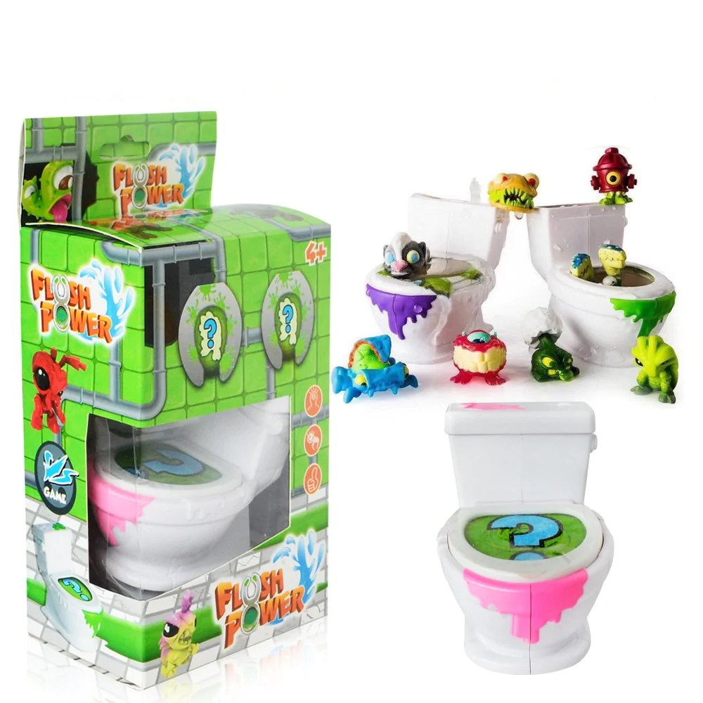 Korte Toiletpot Wc Flush Wc Monster Elf Serie Van Kleur Dozen Wc Prullenbak Toiletpot Monster