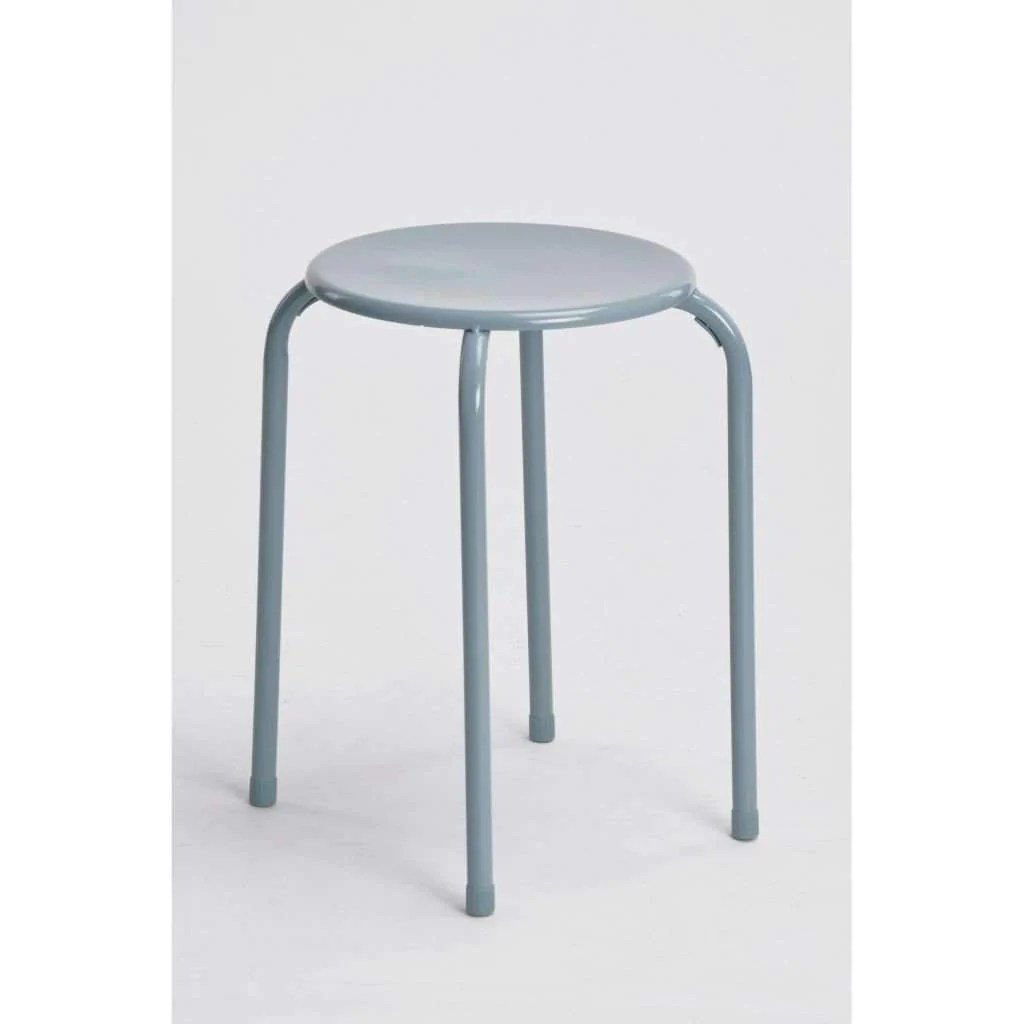 Tabourets Bar Empilables Sandra Venditti Tabouret Empilable En Métal Dark Gery