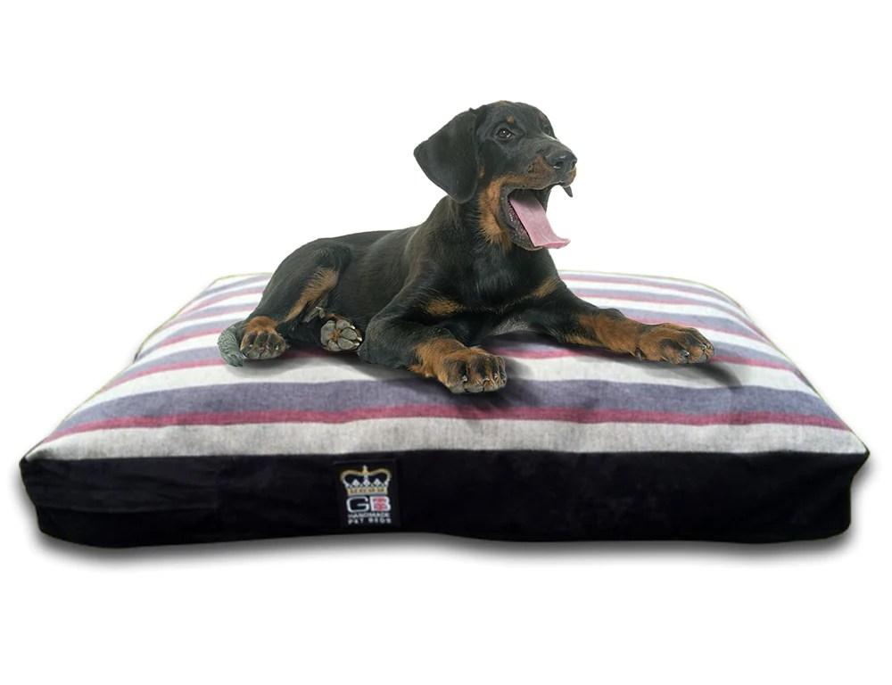 Gb Pet Beds Dog Mattress Bed Stripe Mayfair Granite