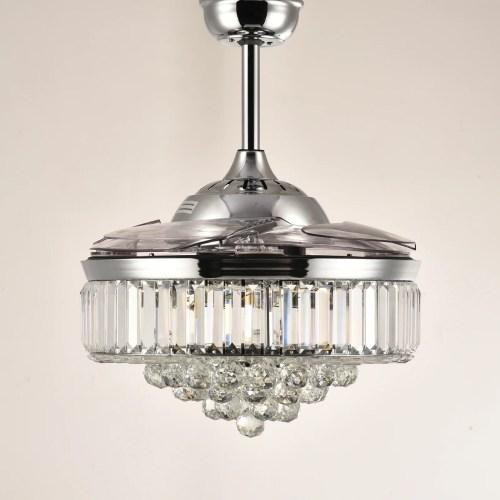 Medium Of Chandelier Ceiling Fan